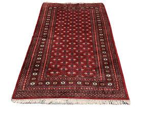 Feiner Handgeknüpfter Orientteppich Turkman Buchara Yomut 190x120cm Tapis