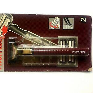 Vintage Schick Pivot Plus Shaving Machine & 2  Twin Blade Cartridges