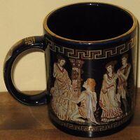 Ancient Greece Coffee Mug with 24K Gold Trim