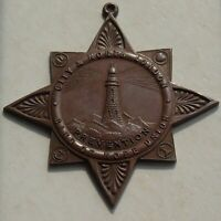 Victorian Temperance Bronze Medal, London Band of Hope Prevention, Lighthouse