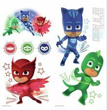 New Pj Masks Stickers Glow In Dark 8 Wall Decals Catboy Owlette Gekko Room Decor
