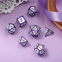 7Pcs/Set Metal Polyhedral Dice DND RPG MTG Role Playing Tabletop Game, Purple