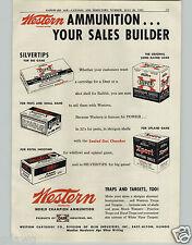 1951 PAPER AD Western Ammunition Ammo Box Super X Shotgun Shells 38 Special