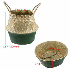 Handmade Woven Storage Boxes Seagrass Basket Foldable Clothes Storage Container