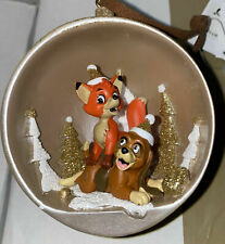 Ornament DANGLER BAUBLE Disneyland PARIS The Fox and the Hound  NEW
