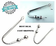 Anal Rope Hook Double Ball Bondage BDSM Adult Fetish Toy Steel Rope Master Solid