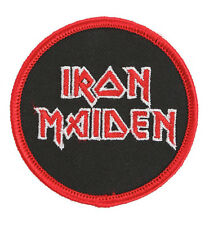 """Iron Maiden Logo Iron-On Patch Embroidered 2.5"""" Patch Heavy Metal - NEW"""