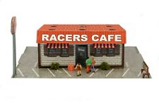 1/64 Slot Car HO Raceway Cafe Diorama Building Kit Fits AFX, Aurora Race Track