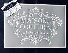 Pochoir Adhésif Réutilisable 30 x 20 cm Médaillon Arabesques Maison De Couture