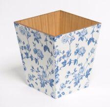 Fleur bleue en bois fait main waste paper bin made in uk