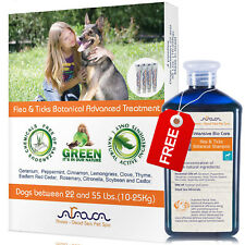 Natural Flea and Tick Prevention Control for Medium Dogs 22-55lb & Shampoo Arava