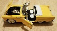 "1955 Ford Thunderbird Convertible Classic Model Car 7"" x 3""  1/24 Die Cast"