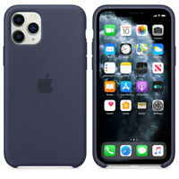 Apple iPhone 11 PRO Original Silikon Schutz Hülle Case 5,8 Mitternachtsblau