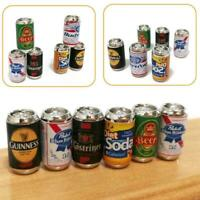 Mini Beer Bottle Cans DIY Miniature Dollhouse Model Children Food Game Beach Toy