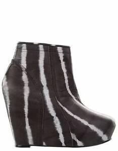 "Brand New SHAKUHACHI  ""Ultimate"" Tie Dye Leather Wedge Boot  Size  40  $499"