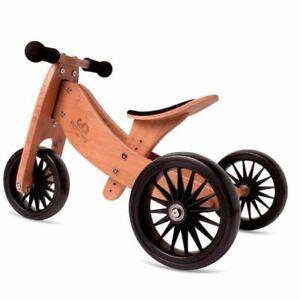 NIB Kinderfeets Tiny Tot PLUS 2-in-1 Trike Bamboo (03600) - FREE SHIPPING
