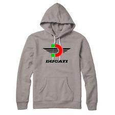 Ducati logo   tribute hoodie grey