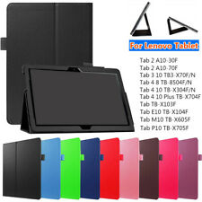 Flip Stand Tablet Cover Case Leather Smart For Lenovo Tab 3 4 E10 P10 10.1""