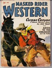 MASKED RIDER WESTERN (8/1949) JUD TALLY, T. W. FORD, HAL WHITE, LARRY HARRIS