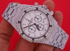 Unworn Audemars Piguet Royal Oak Chronograph 41 mm Watch Iced Out 25 Ct Diamonds