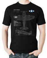 Flyingraphics Aviation themed T Shirt Republic P-47 Thunderbolt.