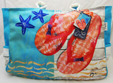Artist Paul Brent Sunshine & Flip Flop Sandals Oversized Beach Bag Tote