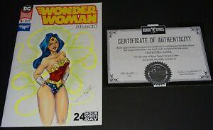 WONDER WOMAN #1 ,24 HOUR COMICS DAY .ALL BLANK (2018.DC) ORIGINAL SKETCH ART