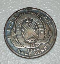 1844 HALF PENNY PROVINCE OF CANADA BANK OF MONTREAL TOKEN COIN OB