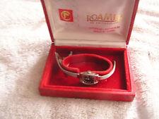 Vintage Roamer Incabloc 19 Jewels  Black Dial Ladies Women's Watch Original Box