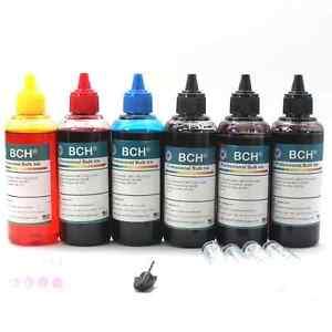 4-Color Bulk Ink Refill Kit for HP Inkjet Printer Cartridges 600 ml Total