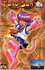 TAKO SAN n° 1 rivista fumetto e animazione con POSTER