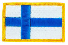 FLAG PATCH PATCHES FINLAND FINISH FINNISH IRON ON COUNTRY EMBROIDERED SMALL