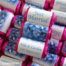 100 PERSONALISED Blue Hydrangea MINI LOVE HEART SWEETS WEDDING PARTY FAVOURS