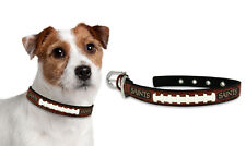 New Orleans Saints Small Leather Lace Dog Collar [NEW] Pet Cat Lead CDG NFL