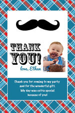 LITTLE MAN Printable Birthday Party THANK YOU CARD Photo Invitation File UPrint