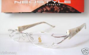 Mozart 48-19 140 Titanium Pearl Small Neostyle Eyeglasses Frames Womens Rimless