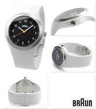 New Authentic BRAUN Grey Silicone Strap BN0111BKLGYG Sport Boxed Watch