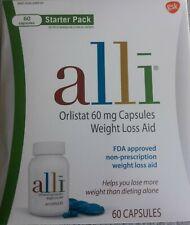 Alli Orlistat Weight Loss Aid Starter Kit 60 capsules