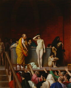 Jean Leon Gerome The Slave Market in Rome Giclee Canvas Print Paintings Poster