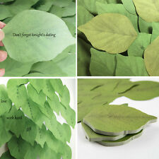 100 Pcs Cute Green Leaf Post-it Sticky Notes Paper Notebook Marker Sticker Memo