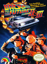 Back to the Future Part 2 & 3 Nintendo NES Framed Print (Picture Poster Gaming)