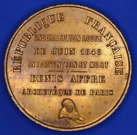 1848 France medallion - Denis-Auguste Affre, Archbishop of Paris, 50mm *[18158]