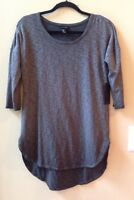Nwt Mercer & Madison Women's  Gray Ombre' 3/4 Sleeve High-Low Hem Top Size S