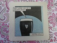 Beer Coaster ~*GUINNESS Brewing Cold Stout ~ Bambi's Mum's Dead ~ Throw A Stick!