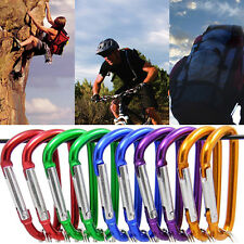 5x Mini Aluminum Alloy Carabiner D-Ring Locking Clip Camping Snap Hook Key Chain