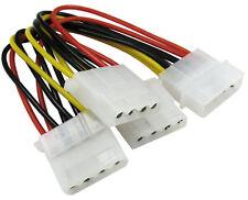 Internal 3 Way Power Splitter One Male Molex Connecter to Three Female Molex HD