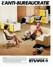 PUBLICITE ADVERTISING 027  1979  Aménagement & mobilier bureau  Strafor 2