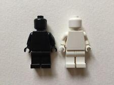 Lego White Mannequin And Black Silhouette Plain Minifigures x2