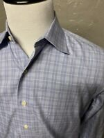 Brooks Brothers Purple Label USA Made Check Plaid Dress Shirt. Men's 15.5 33