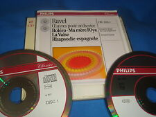2 CD / RAVEL BOLÉRO MA MÈRE L'OYE LA VALSE / PHILIPS DUO 438 745-2 / 1993 MINT
